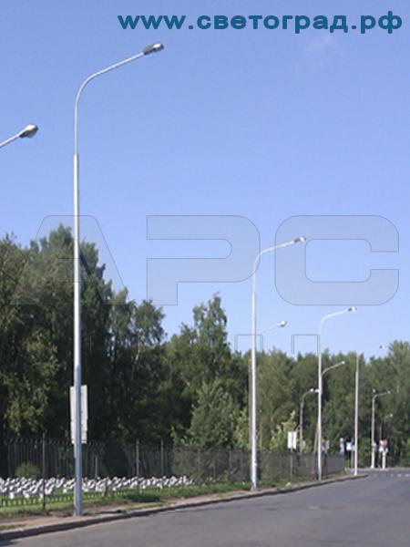 Опора силовая граненая 9м с нагрузкой 1500кг ОГС-9-1500-Ф для контактных сетей