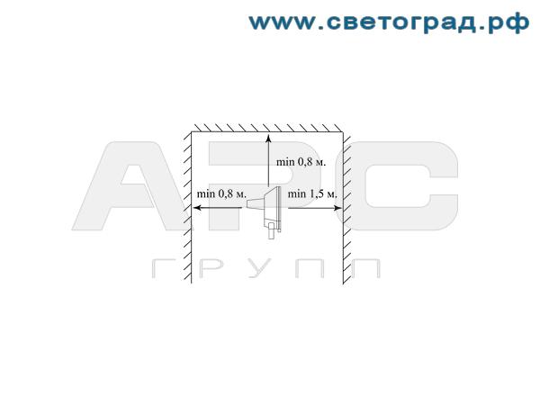 Установка прожектора ГО-337-400-001 400Вт