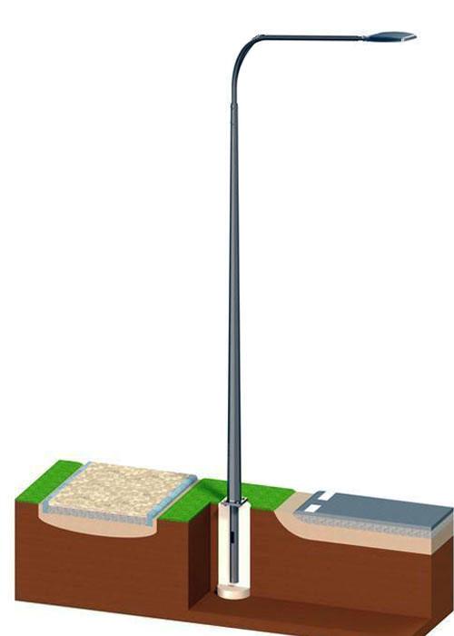 Опора освещения металлическая граненная 3м ОГК-3. Опора несиловая фланцевая граненая НФГ-3,0-02-ц