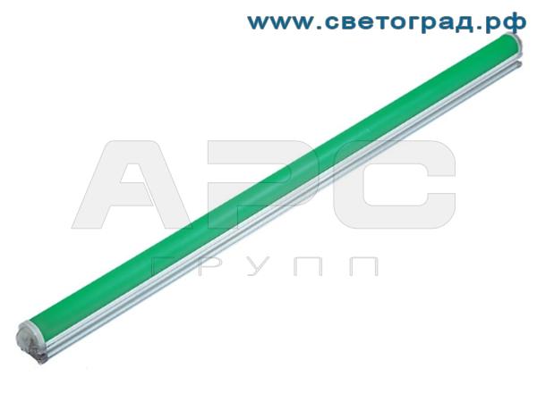 Линейный светодиодный светильник зелёного цвета 12 Вт ПБУ 509–12–1000–Контур