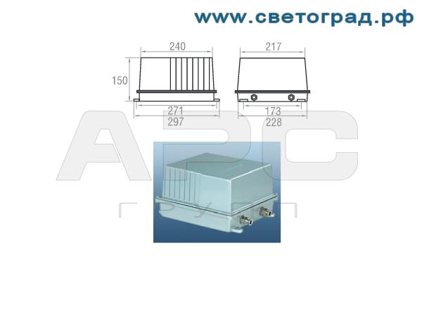 Пра виброустойчивого прожектора ГО 24-1000-001 с корпусом ПРА