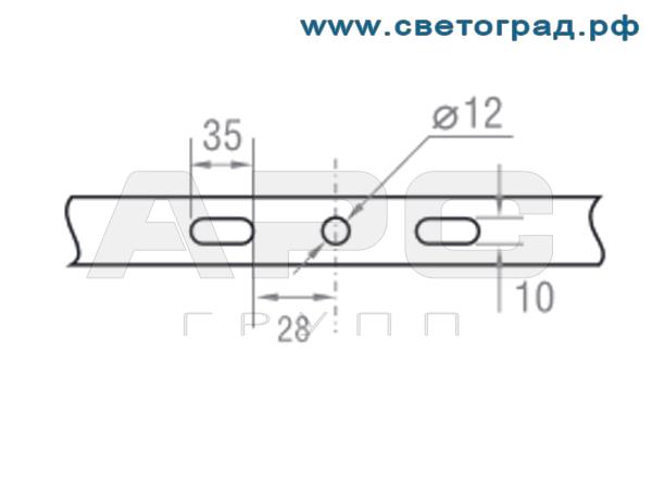Крепления светодиодного прожектора ПО 228-56х1-001-Баланс