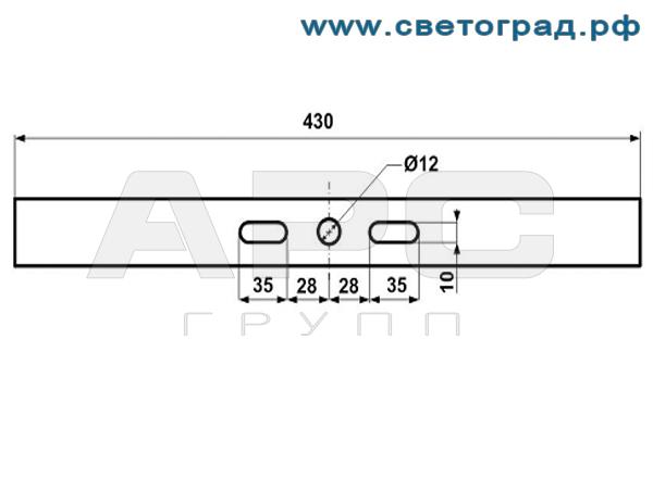 Крепление прожектора ПО 228-56х1-001-Оптикс