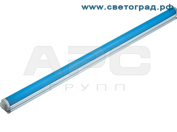 Линейный светодиодный светильник синего цвета 12 Вт ПБУ 509–12–1000–Контур