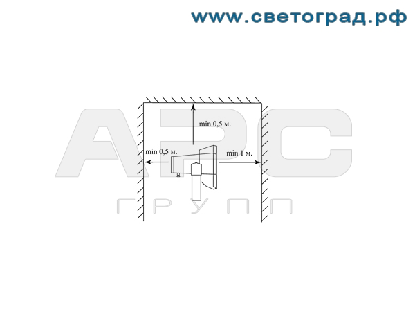 Установка прожектора ГО-316-70-001 с ЭПРА 70Вт