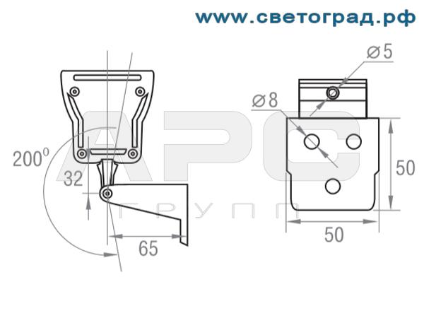 подключение Линейный светильник для люминисцентных ламп ЛБУ 506–001