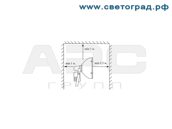Установка виброустойчивого прожектор РО 28-1000-003