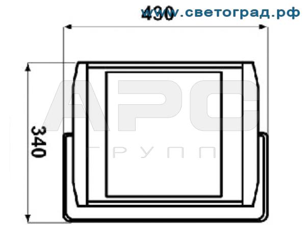 Прожектор светодиодный заливающим светораспределением 85 Вт ПО 228-56х1-001-Оптикс