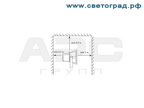 Установка виброустойчивого прожектор ГО 302-70-001