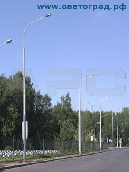 Опора силовая граненая 10 м с нагрузкой 1300 кг ОГС-10-1300-Ф для контактных сетей