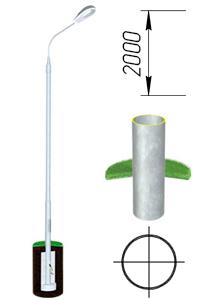 Опора трубчатая прямостоечная 2м ОТ-2/89(3)-П