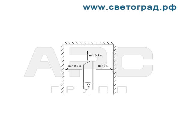 Установка прожектора ГО-328-70-001 с ЭПРА 70Вт