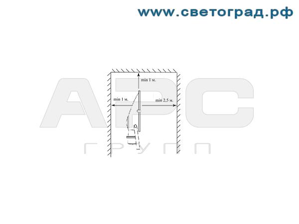 Установка прожектора ГО-332-1000-001 1000Вт