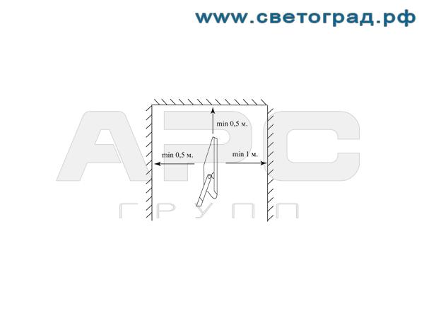 Установка прожектора ГО-303-70-001 70Вт