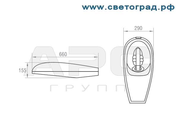 Размеры светильника-ЖКУ-792–250–001