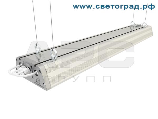Промышленный светодиодный светильник на подвестных креплениях ДиУС-160/120