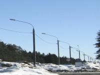 Опора силовая трубчатая 9м с нагрузкой 400кг ОТС-9-400-Ф для контактных сетей