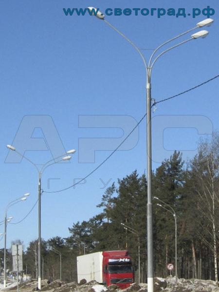 Опора освещения силовая фланцевая трубчатая СФ-400-11,0-01-ц