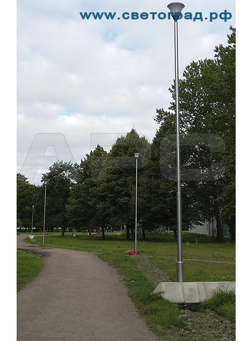 Опора освещения трубчатая парковая 4 м ОТ-4/57(3)-Ф