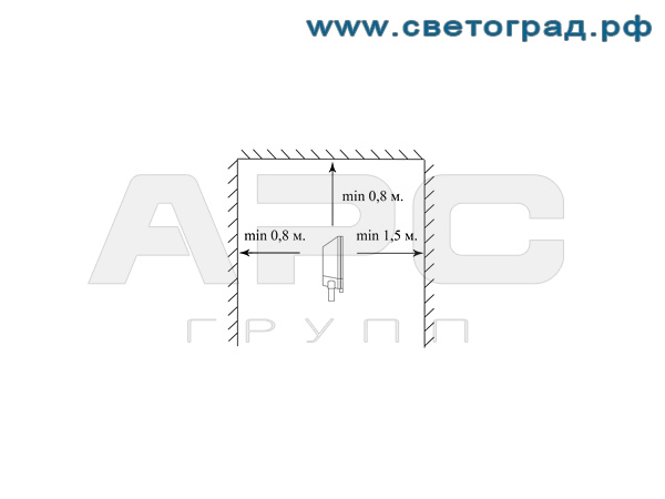 Установка прожектора ГО-337-250-003 250Вт