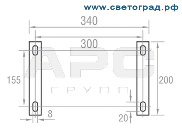 Крепление аварийного светильника 36 Вт ПО 230–27-1–001