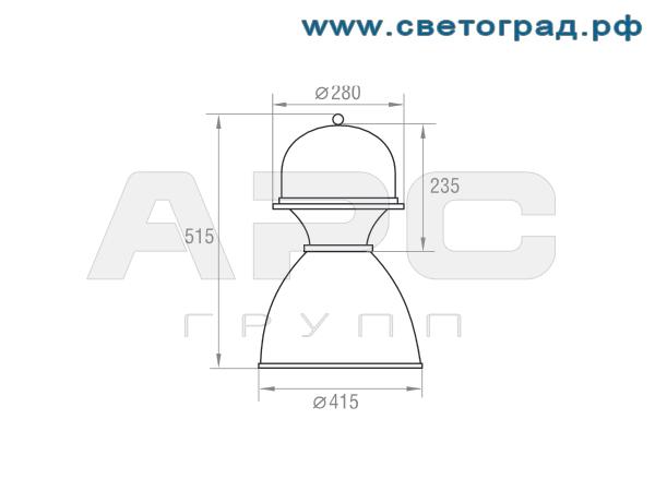 Размеры светильника-ЛСП 127-1×60-005