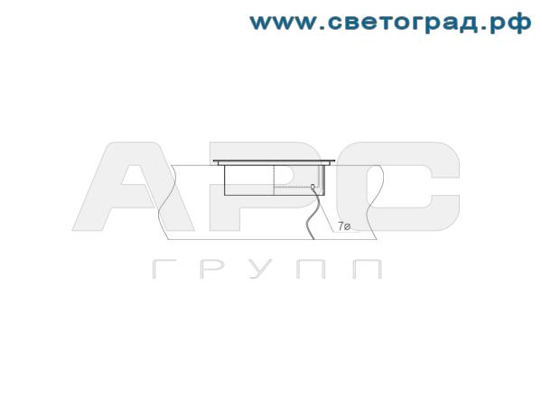 Светодиодный грунтовый светильник ПBУ 4007-20-001-Баланс
