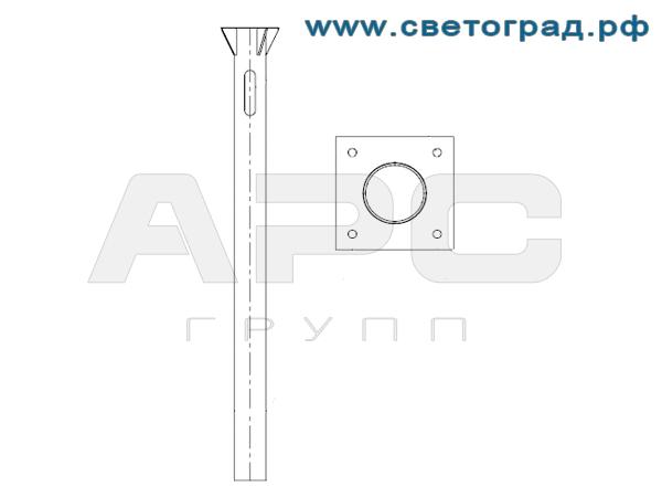 Закладная деталь опоры освещения ЗФ