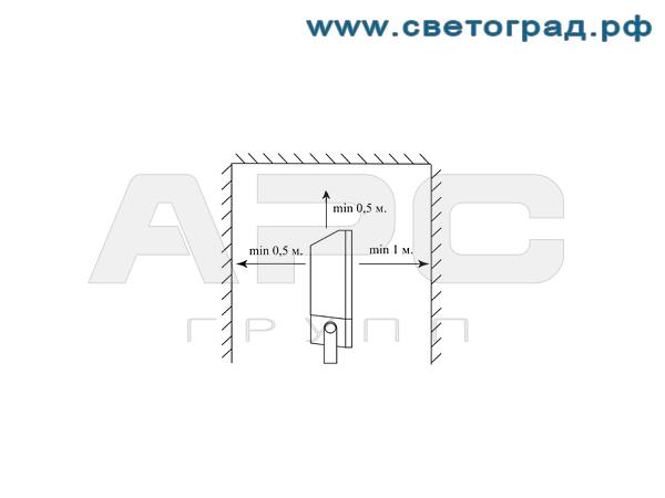 Установка прожектора ГО-328-70-002 с ЭПРА
