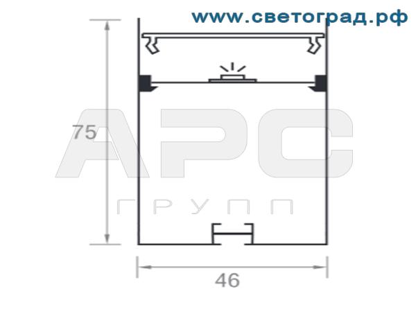 Размеры светильника ПСО 4675 Делюкс
