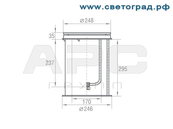 Размеры-ГВУ 626-70-002 с ЭПРА