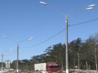 Опора силовая трубчатая 9м с нагрузкой 700кг ОТС-9-700-Ф для контактных сетей