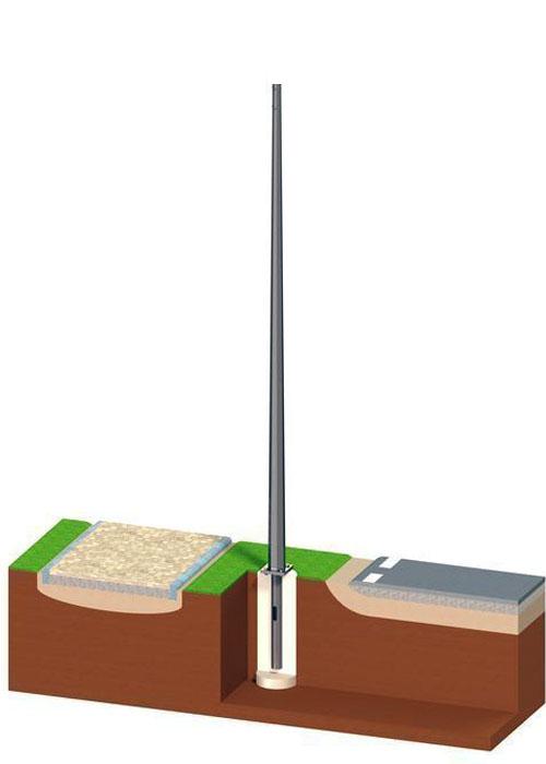 Опора освещения 10 м толщина стенки 4мм ОГК-10/75(4)-Ф